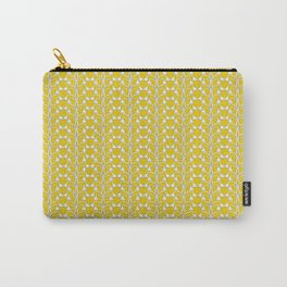 Snow Drops on Mustard Yellow Carry-All Pouch
