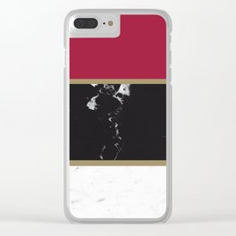 Marble Mix Stripes #2 #black #white #red #gold #decor #art #society6 Clear iPhone Case