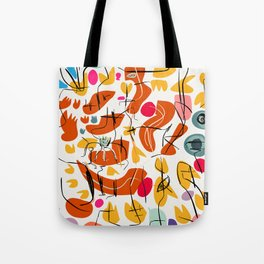 Flowers and Birds Illustration Pattern Tote Bag