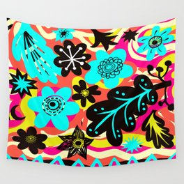 Funky colors Wall Tapestry