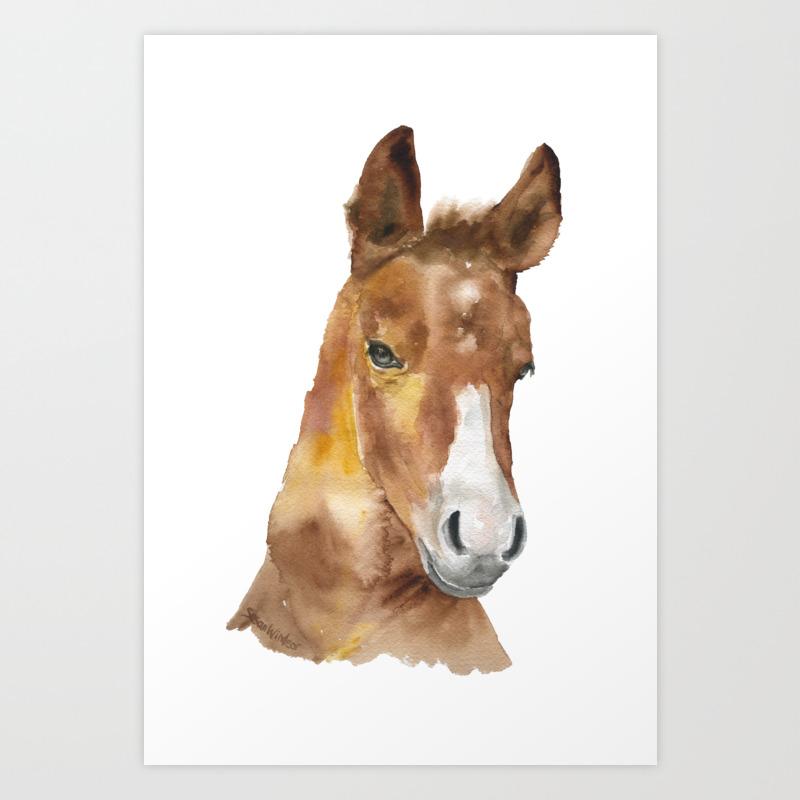 Horse Head Watercolor Art Print By Susanwindsor Society6