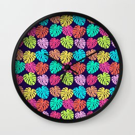 Monstera Deliciosa Print Wall Clock