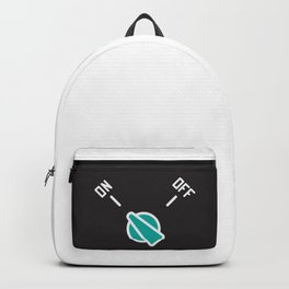 Print Measuring switch with new modern design art - On and Off Backpack
