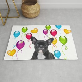French Bulldog - Frenchie colorful Balloons Rug