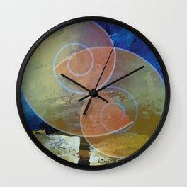 Orange,Yellow & Blue Minimal Art Wall Clock