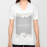 gravity V-neck T-shirts featuring Gravity by eARTh