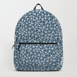 Off White Abstract Triangle Shape Pattern on Blue Pairs To 2020 Color of the Year Chinese Porcelain Backpack