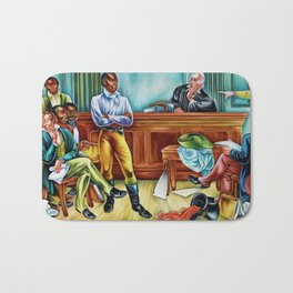 """African American Classical Masterpiece """"The Trail of the Amistad Captives"""" by Hale Woodruff Bath Mat"""