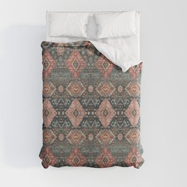 N255 - Vintage Oriental Old Traditional Boho Moroccan Fabric Style Duvet Cover