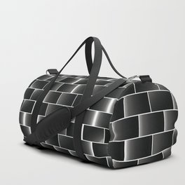 Silver set of tiles Duffle Bag