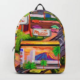 Camelback Road Sunset Phoenix Arizona Backpack