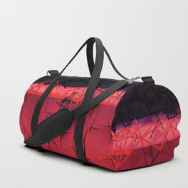Textured Dark Red horizon Abstract Art Duffle Bag