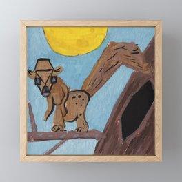 Squareland -Squarrel Framed Mini Art Print