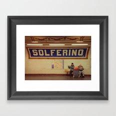 A Moment in Solferino  Framed Art Print