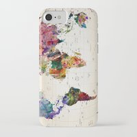 vintage map iPhone & iPod Cases featuring map by mark ashkenazi