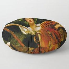 "John Collier ""The Priestess of Bacchus"" Floor Pillow"