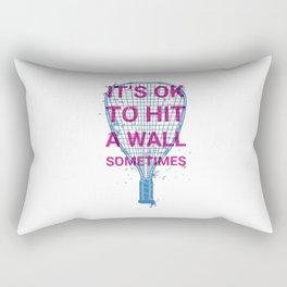 Hit a Wall Rectangular Pillow