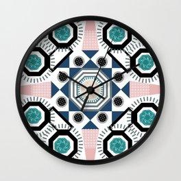 Pastel Mandala Wall Clock