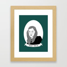 Margaret Hamilton Illustrated Portrait Framed Art Print