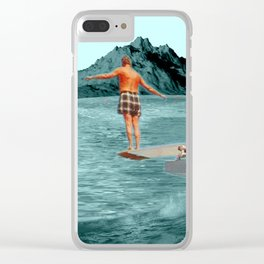Moon Dive Clear iPhone Case