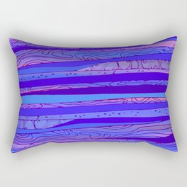 Blue - pink Abstract pattern Rectangular Pillow