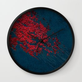 vintage red leaves Wall Clock