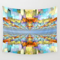sci fi Wall Tapestries featuring Sci Fi Horizons by Phil Perkins