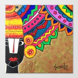 Balaji- abstract art by saneesha Canvas Print