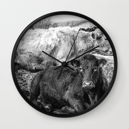 Beautiful and Bovine Wall Clock