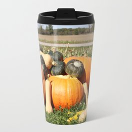 Autumn Fall Pumpkins and Gourds Travel Mug