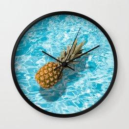 PINEAPPLE & POOL Wall Clock