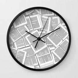 Literary Overload Wall Clock