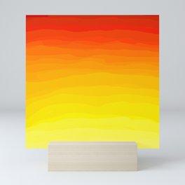 Red to Yellow Sunset Mini Art Print