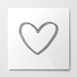 Coupled Heart Metal Print