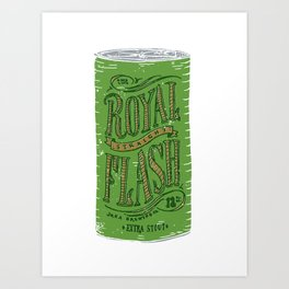 Royal Straight Flash Art Print