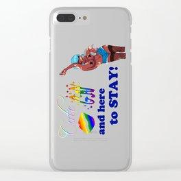Gay/Vitiligo Pride Cuties Clear iPhone Case