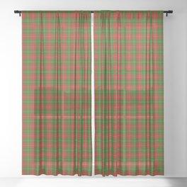 Hay Tartan Plaid Sheer Curtain