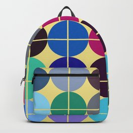 Multicolor Dots on Grid Backpack