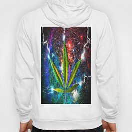 Weed Leaf in Space Hoody