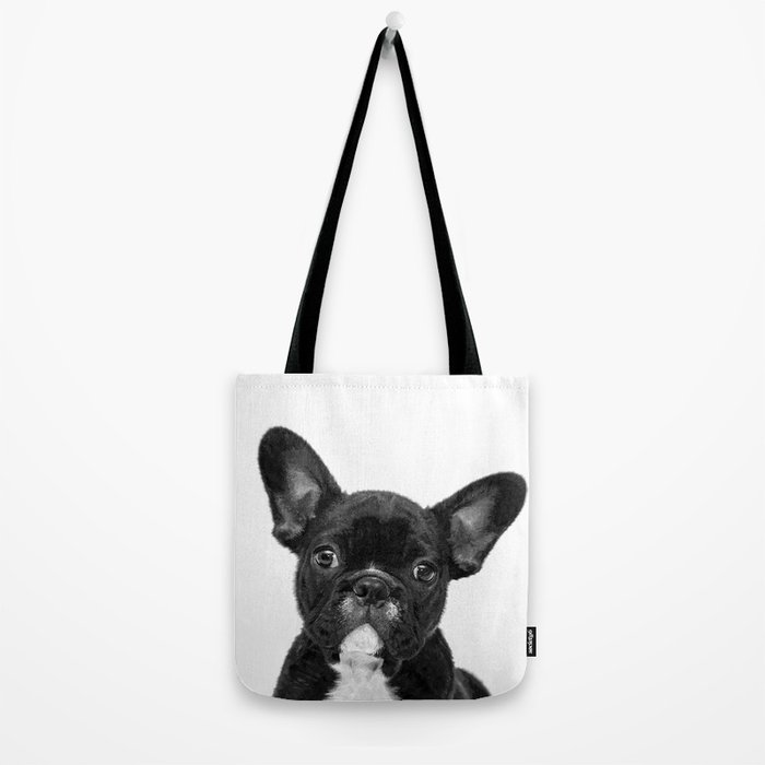 Black and White French Bulldog Tote Bag
