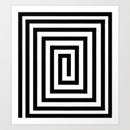 One Way Maze Art Print