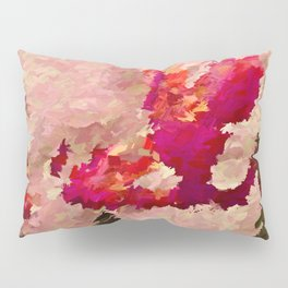 Red and White Orchid Abstract Pillow Sham