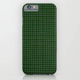 Emerald Green Grid iPhone Case