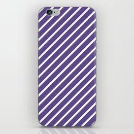 Ultra Violet Tight Diagonal Stripes iPhone Skin
