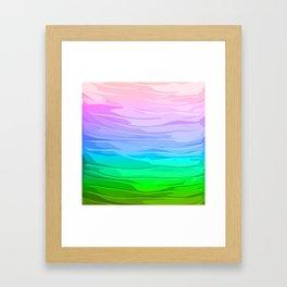 Rainbow Layers Framed Art Print