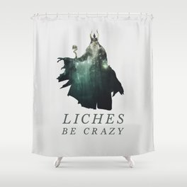 Lich (Typography) Shower Curtain
