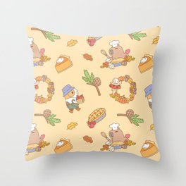 Bubu the Guinea pig, Fall and Pie Throw Pillow