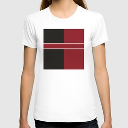 Team Color 6...Maroon,black T-shirt
