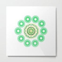 Anahata Flower Mandala Metal Print