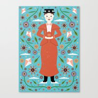 mary poppins Canvas Prints featuring Mary Poppins by Carly Watts